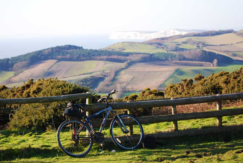 Bicycle on Brighstone Downs